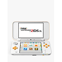 "Buy Nintendo 2DS XL Console, 4GB RAM, 4.88"" Online at johnlewis.com"