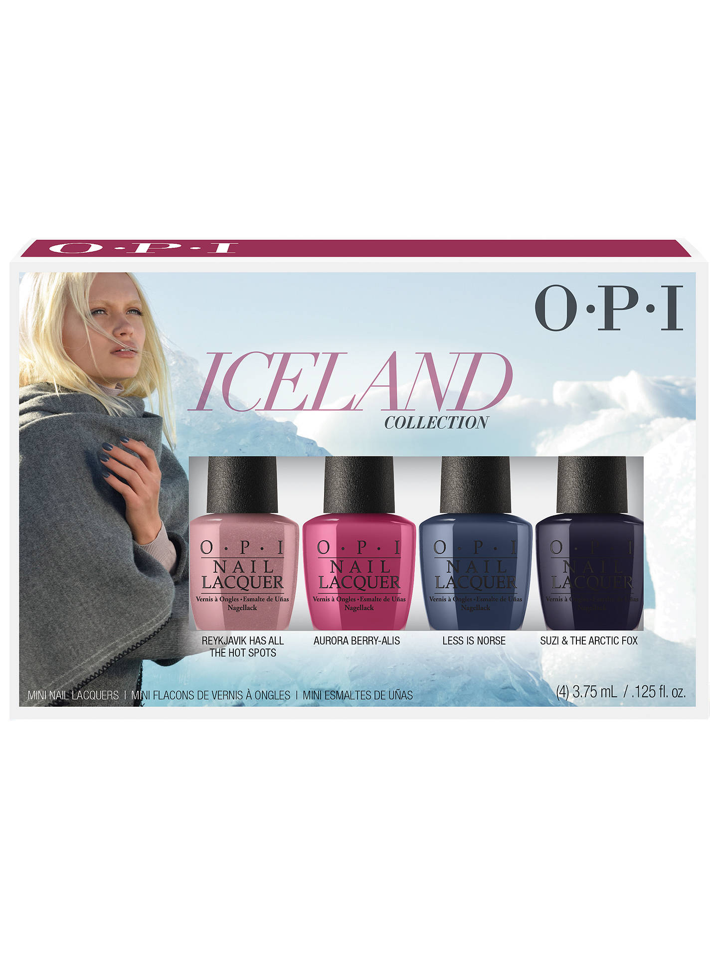 OPI Iceland Colour Collection Mini Nail Lacquer Set at John Lewis ...