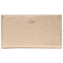 Buy Ted Baker Dolle Bow Leather Travel Wallet, Rose Gold Online at johnlewis.com