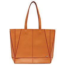 Buy Ted Baker Colour By Numbers Litchi Shopper Bag, Orange Online at johnlewis.com