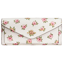 Buy Coach Leather Soft Wallet, Floral Print Online at johnlewis.com