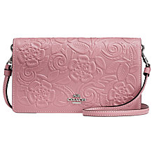 Buy Coach Leather Floral Foldover Cross Body Bag Online at johnlewis.com