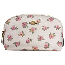 Buy Coach Printed Canvas Cosmetic Case 17, Chalk/Multi Online at johnlewis.com