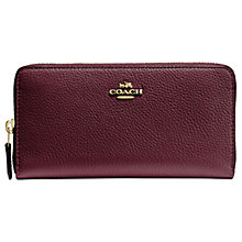 Buy Coach Accordian Leather Zip Purse Online at johnlewis.com