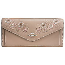 Buy Coach Embossed Leather Soft Wallet, Stone Online at johnlewis.com