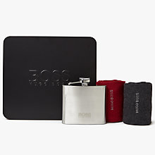 Buy BOSS Hip Flask and Socks Gift Set, One Size, Pack of 2, Red/Grey Online at johnlewis.com