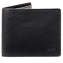 Buy BOSS Majestic Leather Wallet, Black Online at johnlewis.com