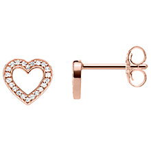 Buy Thomas Sabo Glam & Soul Cubic Zirconia Heart Stud Earrings, Rose Gold Online at johnlewis.com