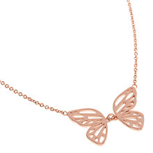 Buy Olivia Burton Butterfly Wing Pendant Necklace, Rose Gold Online at johnlewis.com