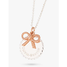 Buy Olivia Burton Coin and Bow Pendant Necklace Online at johnlewis.com