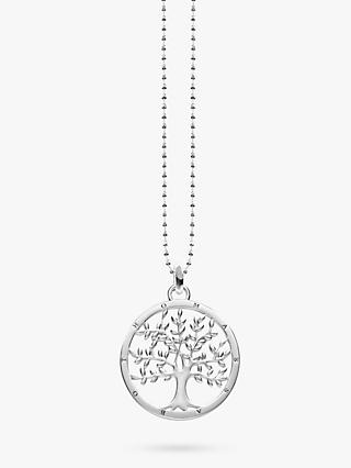 THOMAS SABO Glam & Soul Tree Of Love Pendant Necklace, Silver