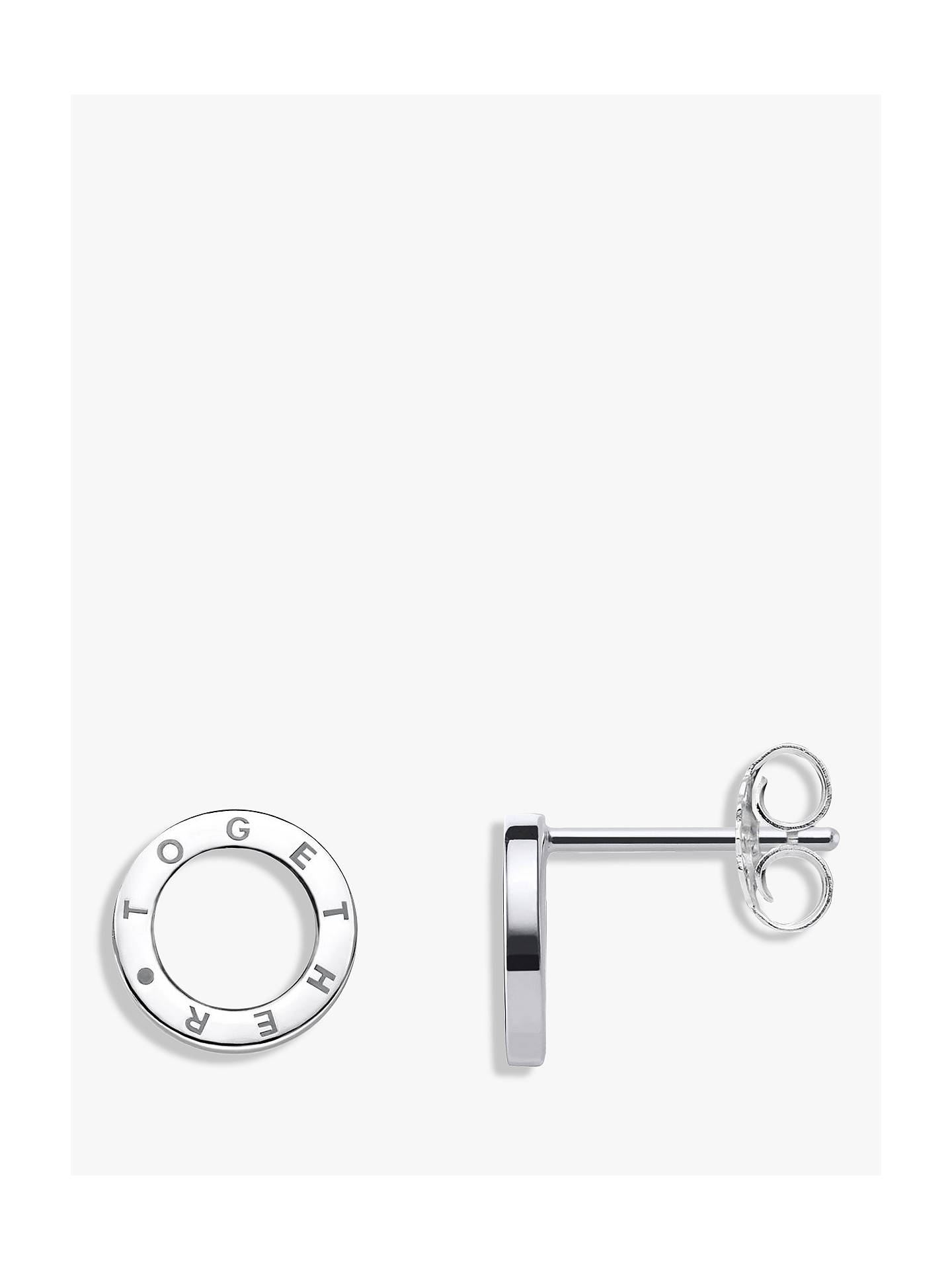 18a6d04d9 Buy THOMAS SABO Glam & Soul Together Forever Stud Earrings, Silver Online  at johnlewis.