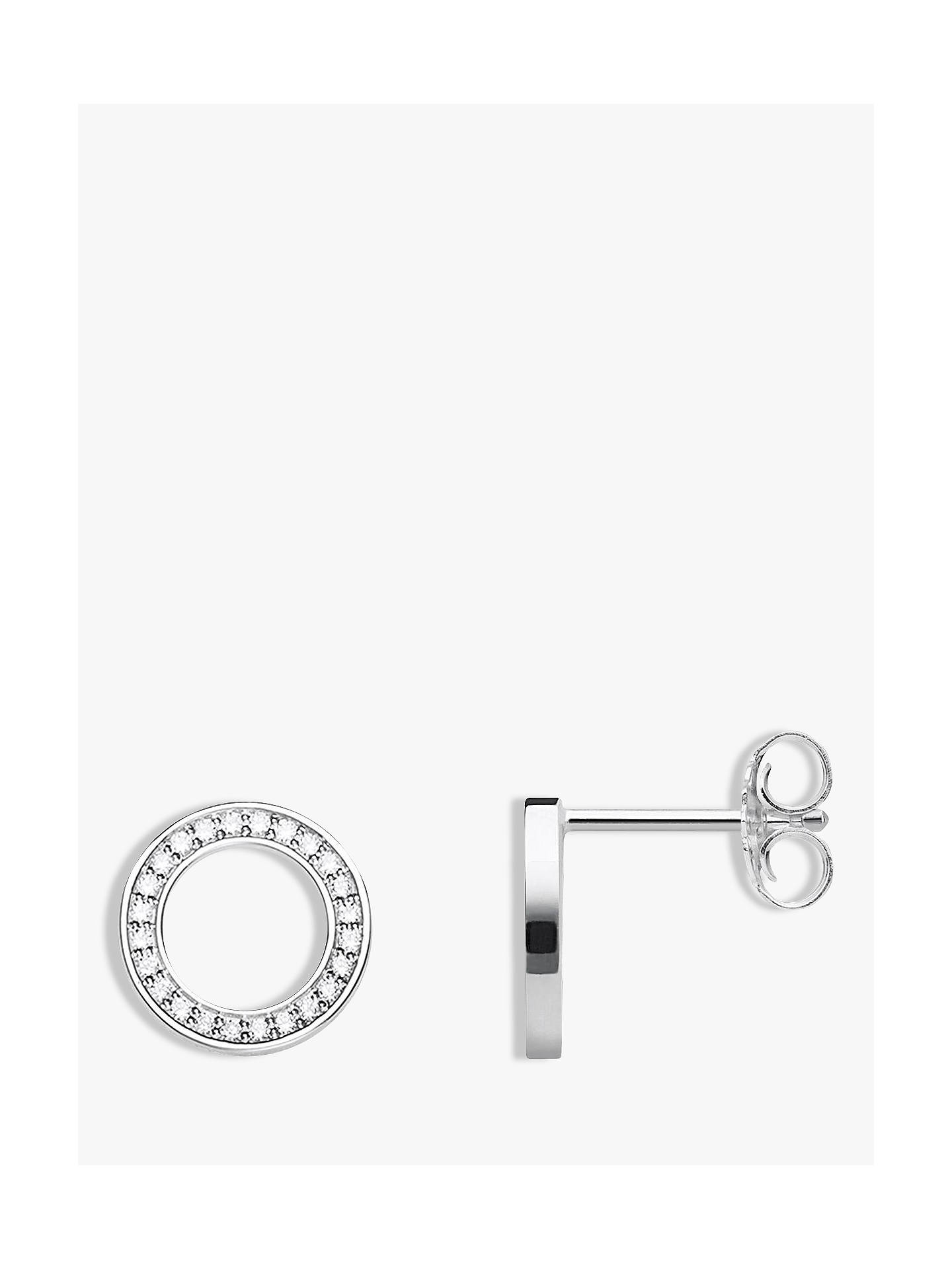 f2cce2779 Buy THOMAS SABO Glam & Soul Cubic Zirconia Circle Stud Earrings, Silver  Online at johnlewis ...