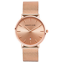 Buy Abbott Lyon Stellar 34 Bracelet Strap Women's Watch, Rose Gold Online at johnlewis.com