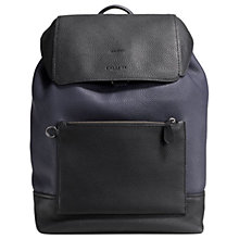 Buy Coach Manhattan Leather Backpack, Navy/Black Online at johnlewis.com
