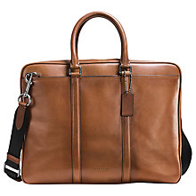 Buy Coach Metropolitan Slim Soft Leather Briefcase, Tan Online at johnlewis.com