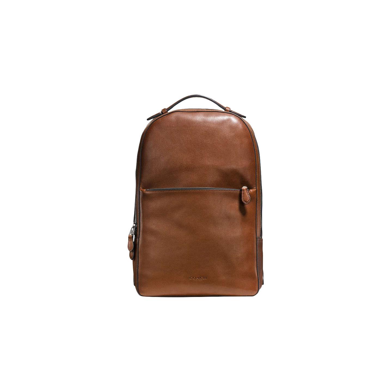 Coach Metropolitan Pebble Soft Leather Backpack Tan Online At Johnlewis