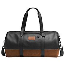Buy Coach Metropolitan Leather Gym Bag, Black/Brown Online at johnlewis.com