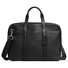Buy Coach Metropolitan Soft Leather Briefcase, Black Online at johnlewis.com