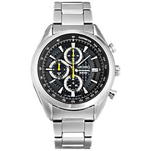 Buy Seiko SSB279P1 Men's Limited Edition Chronograph Date Bracelet Strap Watch, Silver/Black Online at johnlewis.com