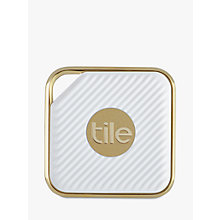 Buy Tile Style Pro Series, Phone, Keys, Item Finder, 1 Pack, Gold Online at johnlewis.com