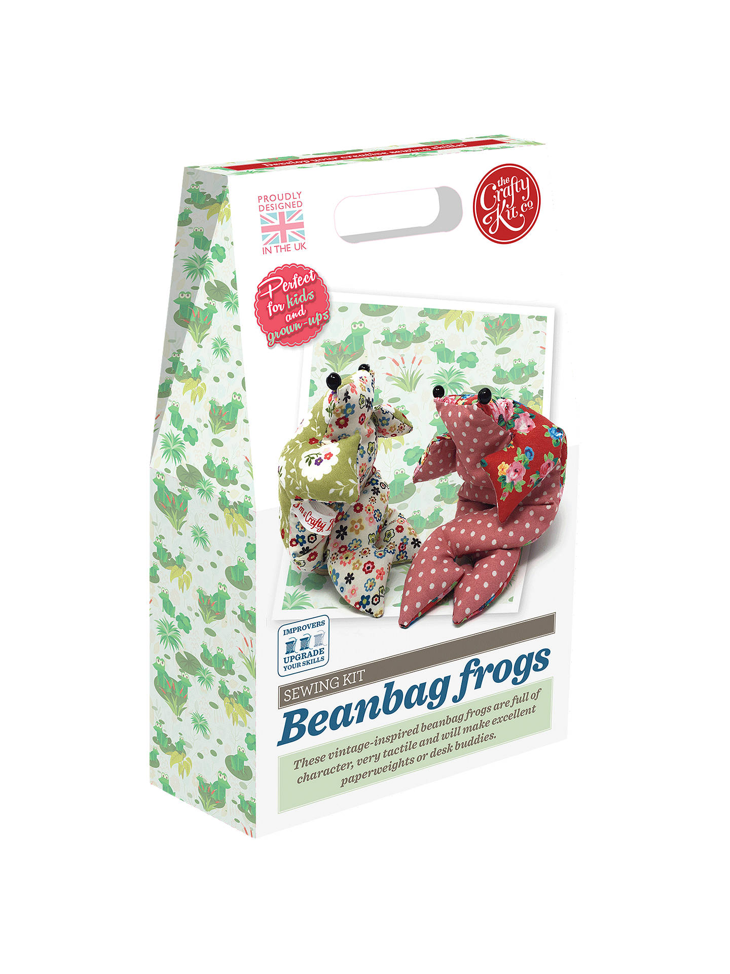 Buy The Crafty Kit Company Sew Your Own Bean Bag Frogs Craft Kit Online at johnlewis.com