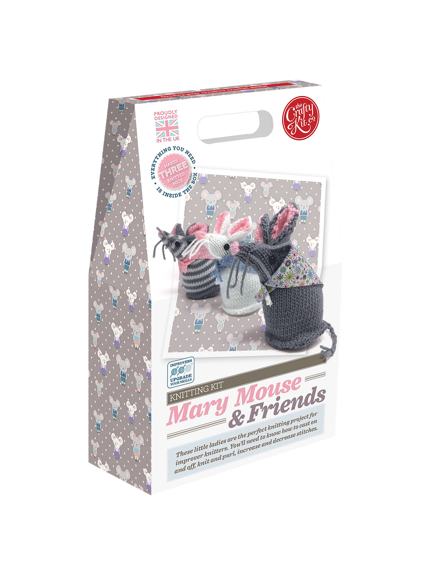 Buy The Crafty Kit Company Knit Your Own Mary Mouse And Friends Kit Online at johnlewis.com