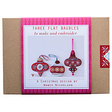 Buy Nancy Nicholson Flat Baubles Embroidery Kit Online at johnlewis.com