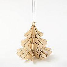 Buy Craft Buddy Blank Wooden Christmas Tree Decoration Online at johnlewis.com