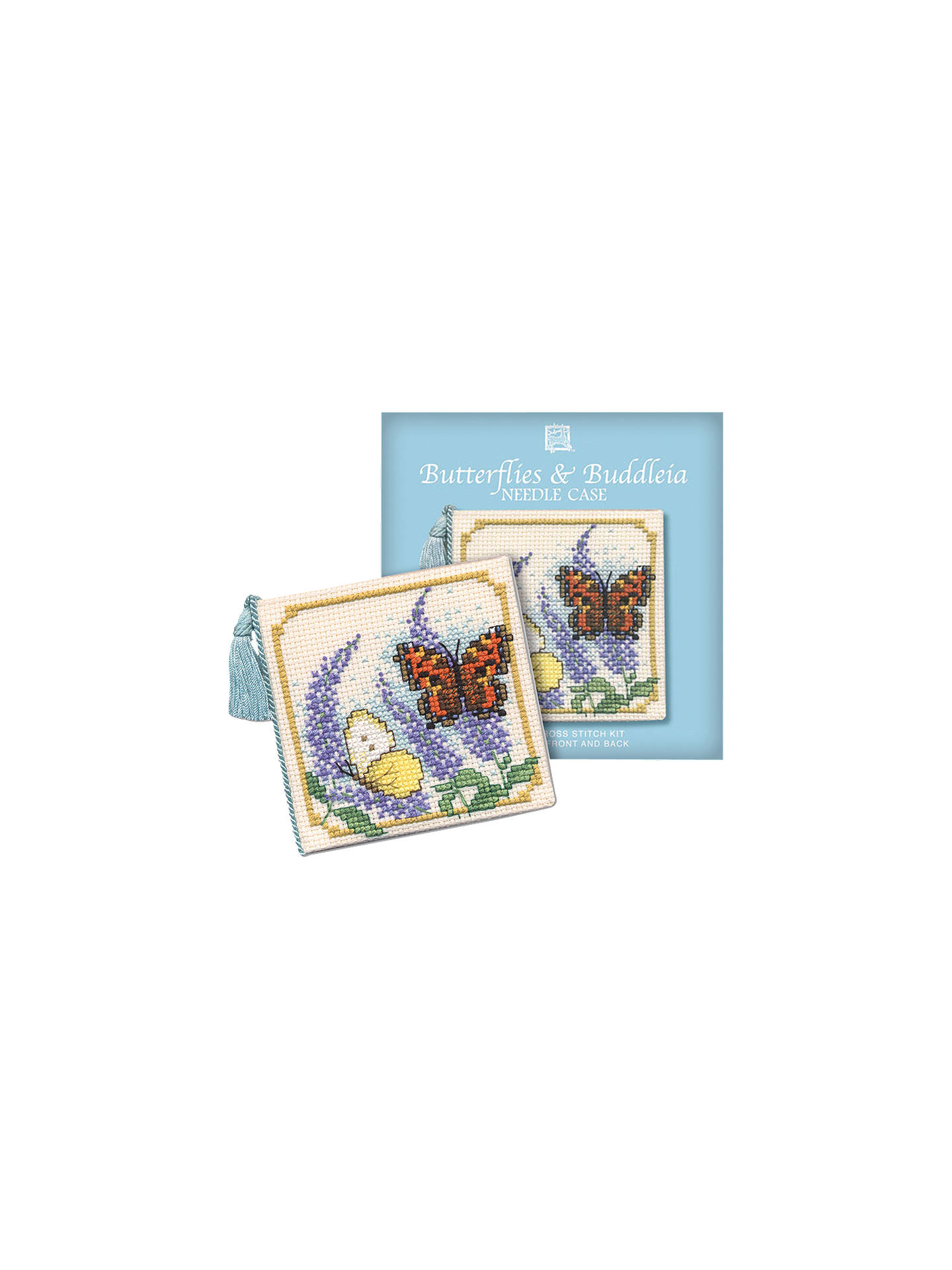 Needle Case Counted Cross Stitch Kit  Butterflies /& Buddleia by Textile Heritage