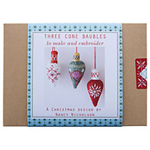 Buy Nancy Nicholson Cone Baubles Embroidery Kit Online at johnlewis.com