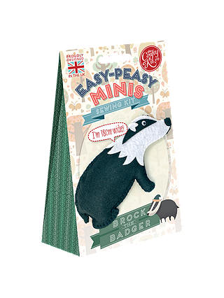 Buy The Crafty Kit Company Brock The Badger Felt Sewing Kit Online at johnlewis.com