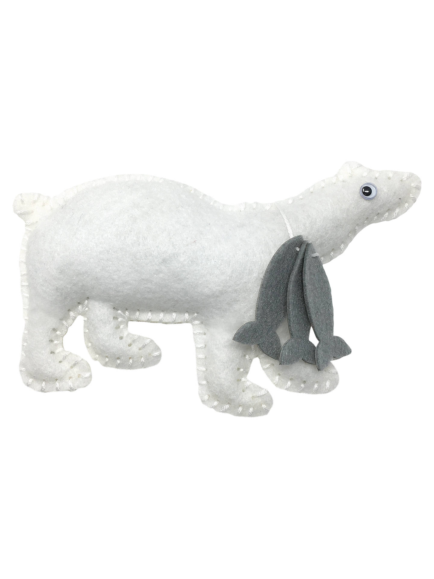 BuyThe Crafty Kit Company Pete Polar Bear Felt Sewing Kit Online at johnlewis.com