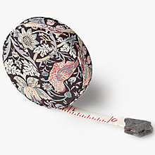 Buy Liberty Strawberry Thief Dressmaking Tape, Black/Multi Online at johnlewis.com