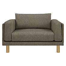 Buy Design Project by John Lewis No.002 Snuggler, Light Leg, Hatch Charcoal Online at johnlewis.com