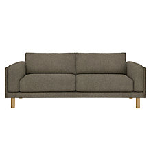 Buy Design Project by John Lewis No.002 Large 3 Seater Sofa, Light Leg, Hatch Charcoal Online at johnlewis.com