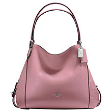 Buy Coach Edie 31 Polished Pebble Leather Shoulder Bag, Dusty Rose Online at johnlewis.com
