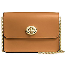 Buy Coach Bowery Leather Turnlock Chain Cross Body Bag Online at johnlewis.com