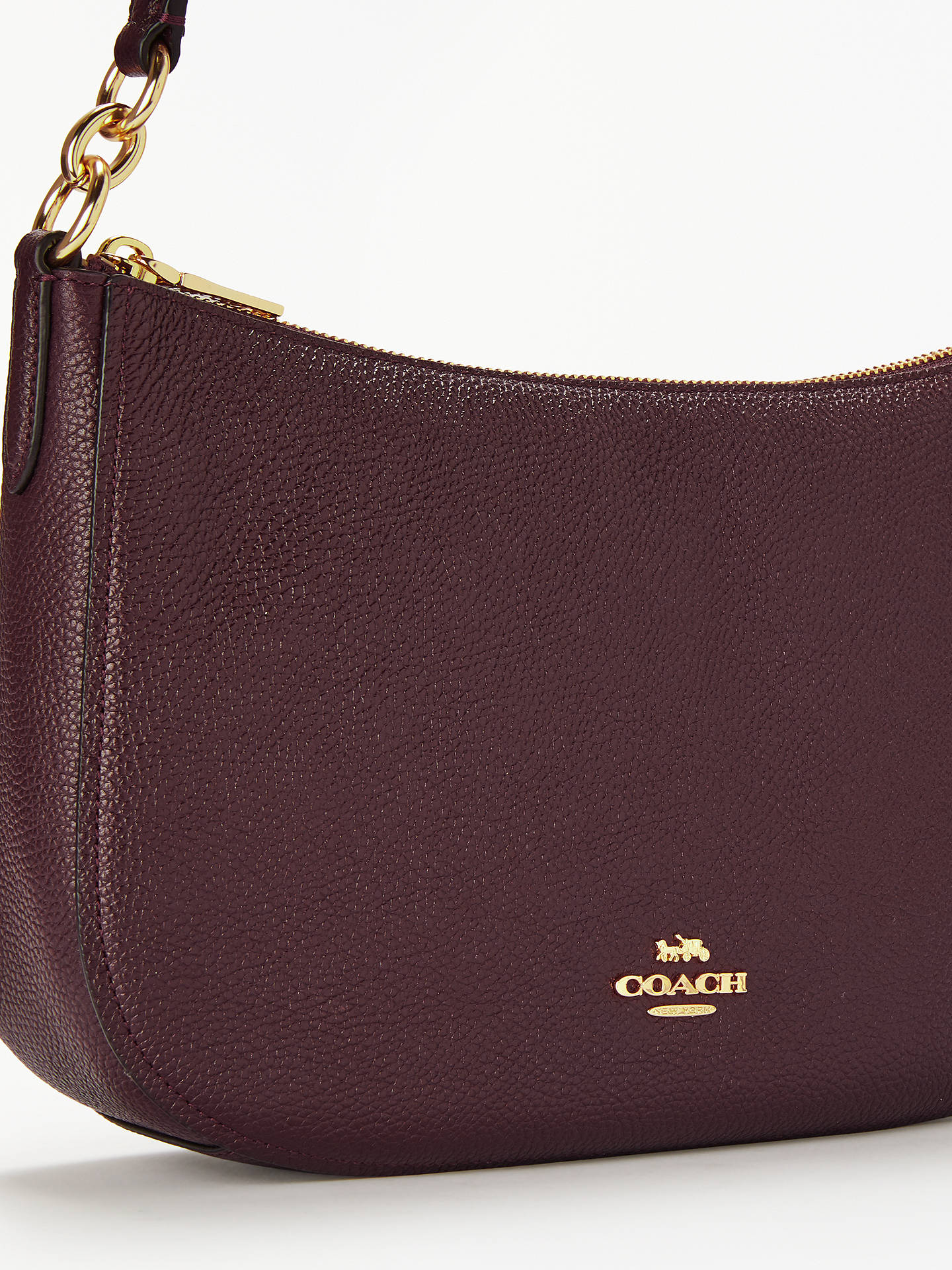 c5c65e9232a6 ... get buycoach chelsea pebble leather cross body bag oxblood online at  johnlewis cf8cf 90574