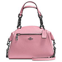 Buy Coach Prairie Polished Pebble Leather Satchel, Dusty Rose Online at johnlewis.com