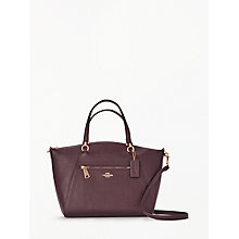 Buy Coach Prarie Leather Satchel Bag, Oxblood Online at johnlewis.com