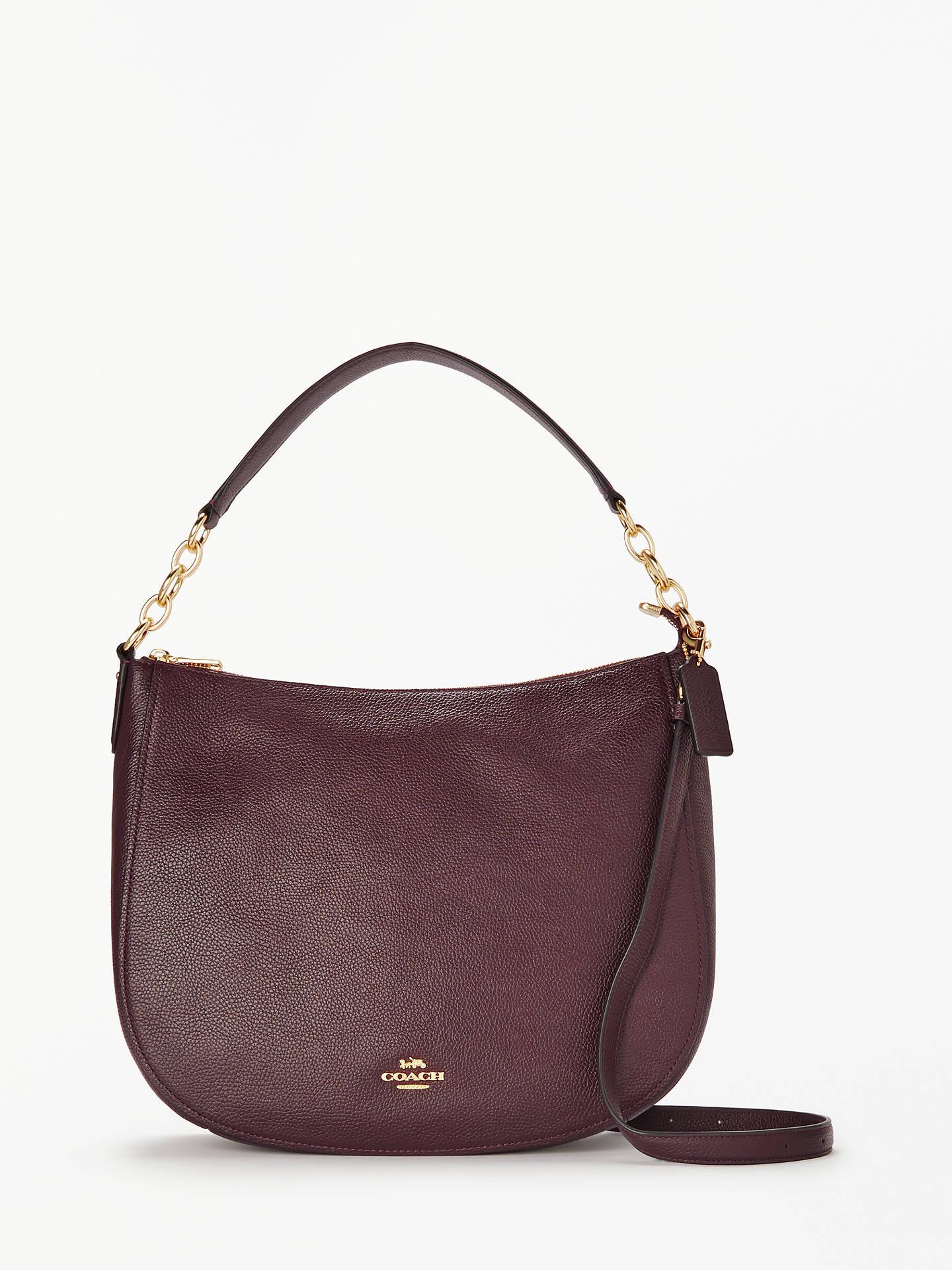 coach chelsea 32 polished leather hobo bag at john lewis partners rh johnlewis com