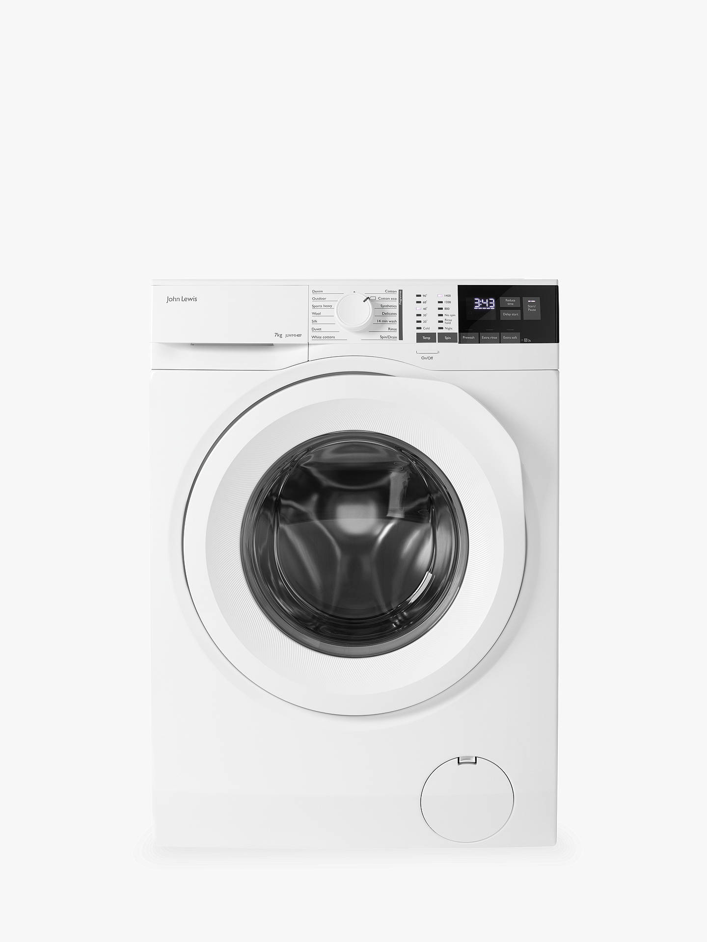 095c99bbd45 Buy John Lewis   Partners JLWM1407 Freestanding Washing Machine