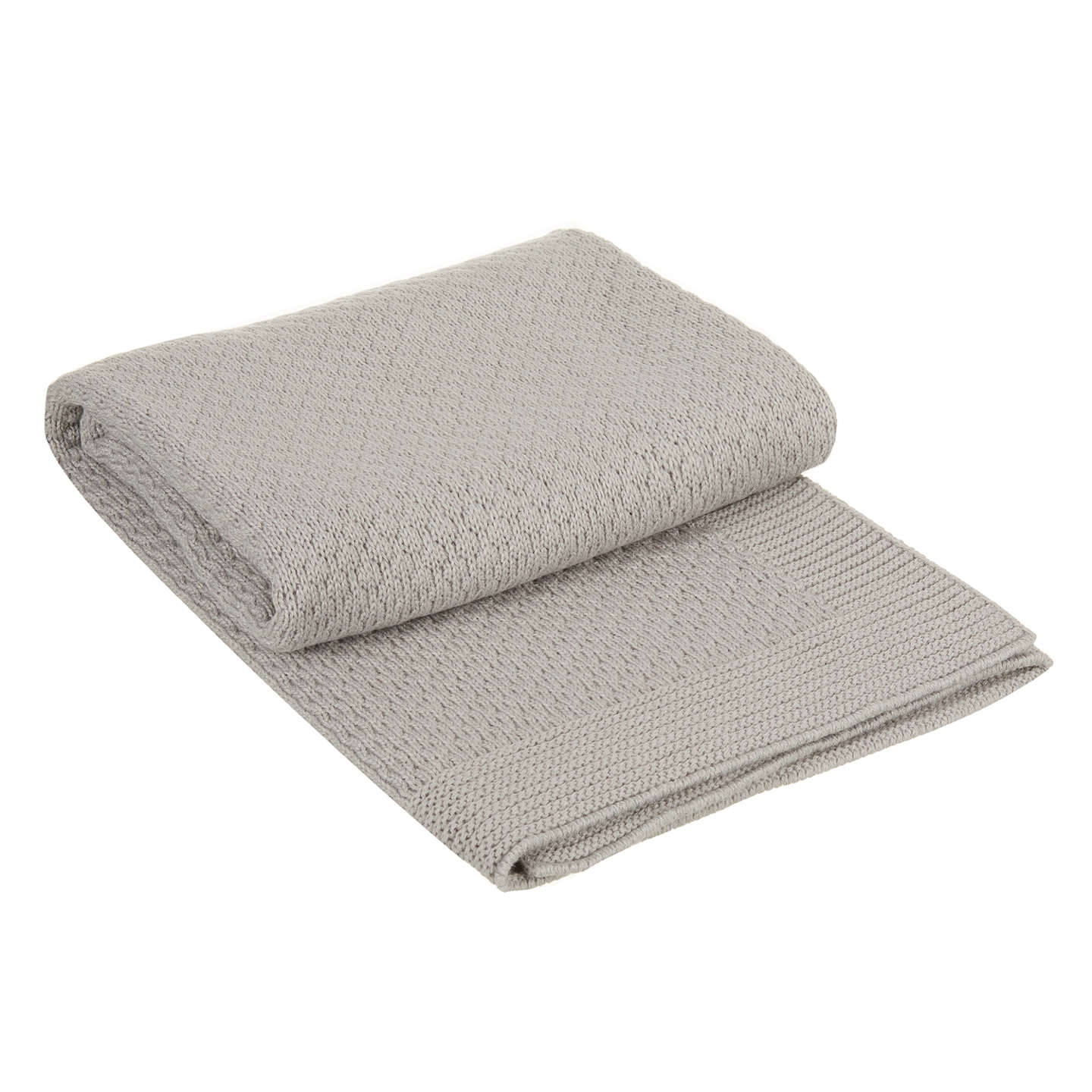 BuyJohn Lewis Honeycomb Pram Blanket, Grey Online at johnlewis.com