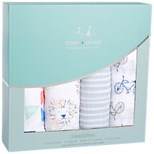 Buy Aden + Anais Leader of the Pack Print Baby Swaddle Blanket, Pack of 4 Online at johnlewis.com