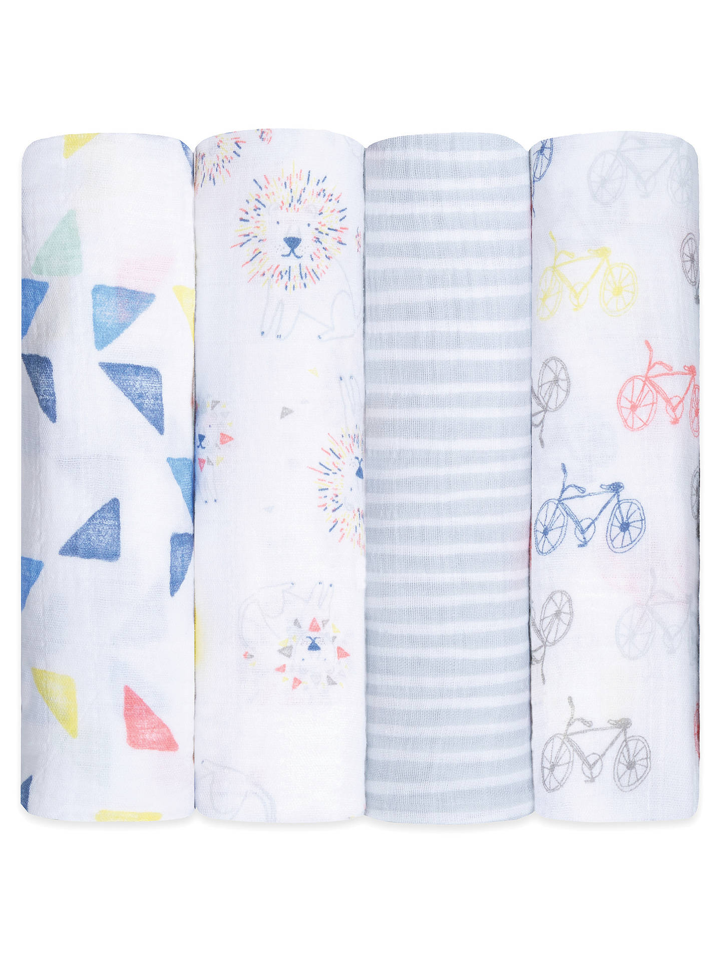 Buyaden + anais Leader of the Pack Baby Swaddle Blanket, Pack of 4 Online at johnlewis.com
