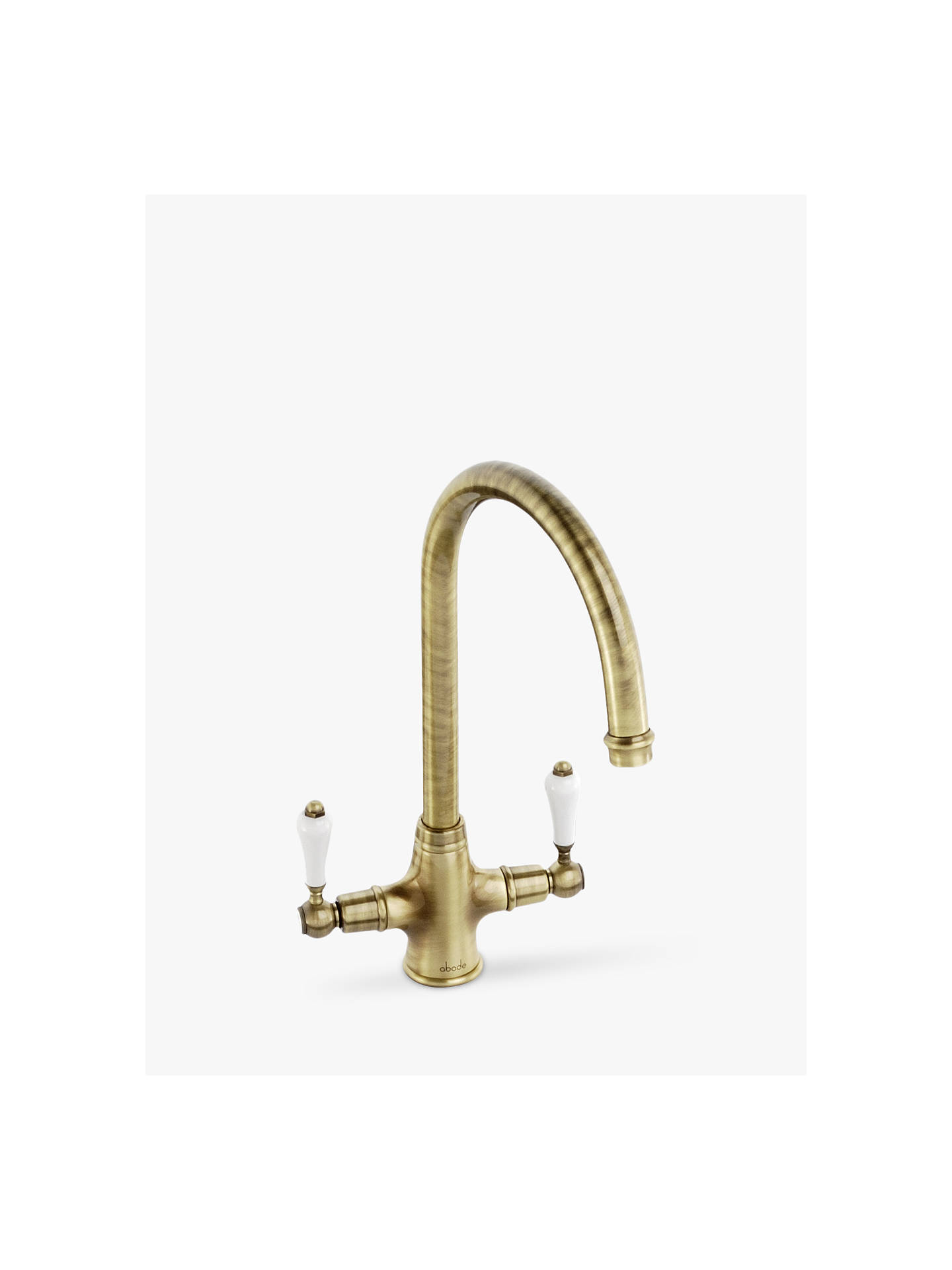 Buy Abode Ludlow 2 Lever Monobloc Kitchen Tap, Antique Bronze Online at johnlewis.com
