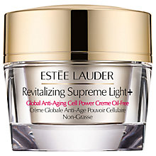 Buy Estée Lauder Revitalising Supreme Light+ Global Anti-Ageing Cell Power Creme Oil-Free Online at johnlewis.com