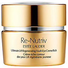 Buy Estée Lauder Re-Nutriv Ultimate Lift Regenerating Youth Eye Creme Rich, 15ml Online at johnlewis.com