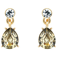 Buy Monet Glass Crystal Teardrop Drop Earrings, Gold/Multi Online at johnlewis.com